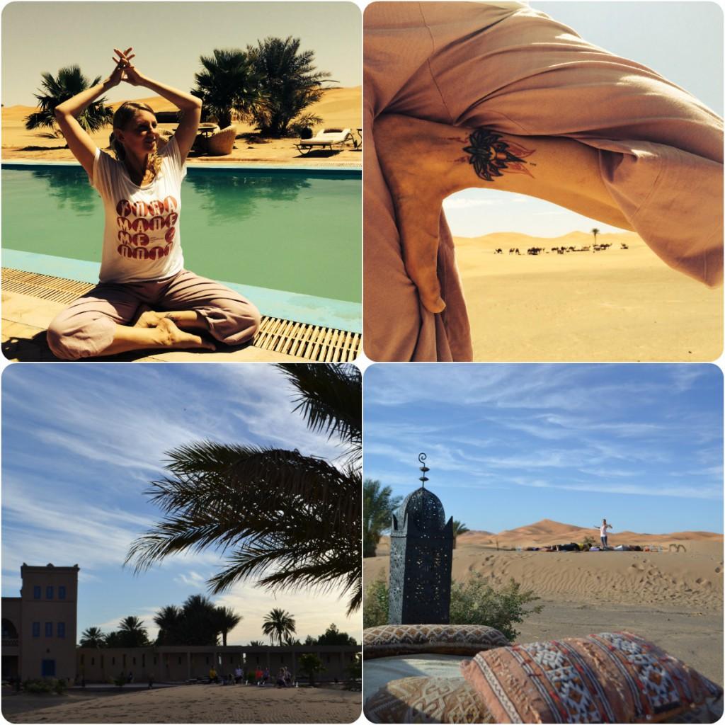 Yogaglück in der Wüste